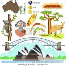 set australia culture symbols vector photo bigstock