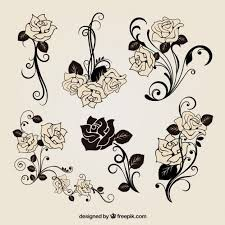 roses decoration vector free