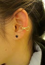 cuff ear geometric bow ear cuff on storenvy