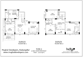 Duplex Blueprints Bed 1 Bedroom Duplex Plans