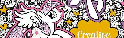 pony creative colouring book free pattern download