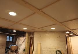 fabric finished basement drop ceiling u2014 new basement and tile