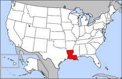 louisiana map in usa louisiana high school athletic association