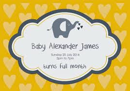 Mcdonalds Invitation Card Celebrating Baby Aj U0027s Full Month Life U0027s Tiny Miracles