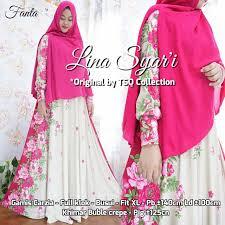 Baju Muslim Ukuran Besar baju muslim setelan lina syar i gamis cantik ukuran besar