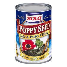 solo poppy seed cake u0026 pastry filling 12 5 oz walmart com
