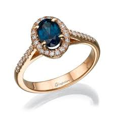 blue gem rings images Blue saphire ring engagement ring rose gold engagement ring gem jpg