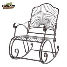 Where To Buy Outdoor Rocking Chairs Rocker Wrought Iron Outdoor Patio Porch New Furniture Rocking