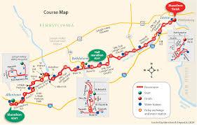 Marathon Route Map by Marathon U0026 Team Relay Map Lehigh Valley Health Network Via Marathon