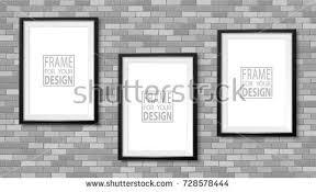 design templates photography free photo frame mockups frame on wall photoframe mock up stock vector 728575570 shutterstock