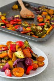 oil free rainbow roasted vegetables simple vegan blog