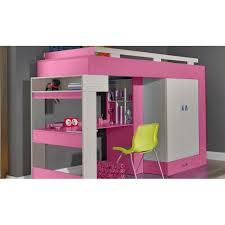 lit surélevé avec bureau lit sureleve avec bureau et armoire vera achat vente lit