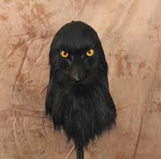 Real Looking Halloween Masks Crow Fursuit Raven Head Realistic Mask Articulated Jaw Realistic