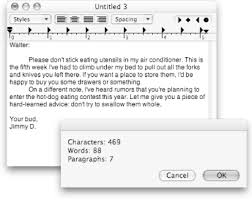 How To Count Words In Textedit In Mac Os X 4 6 Adding Word Count Applescript The Missing Manual Book