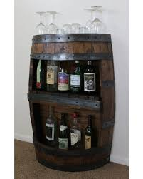 wine barrel liquor cabinet great deals on whiskey barrel bar with shelf reclaimed whiskey