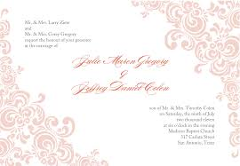 Marriage Invitation Card Sample Sample Wedding Invitation Cards Templates 7 Best