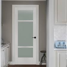 Wood Interior Doors Home Depot Jeld Wen 32 In X 80 In Moda Primed White 3 Lite Solid Core Wood