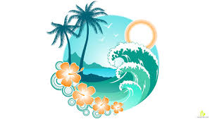palm tree svg island with palm tree and big wave free vector u0026 clipart design