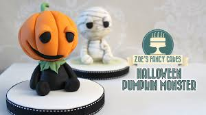pumpkin monster cake topper halloween collaboration youtube