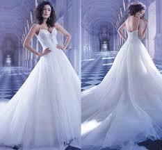 Wedding Dresses Cheap Online Shiny Sequins Court Train Wedding Dresses For 2015 Beach Tulle