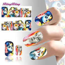 2pcs halloween theme nail art water decals nail sticker waterslide