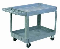 rubbermaid service cart with cabinet sandusky puc254635 2 gray heavy duty plastic utility cart 2 shelves