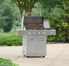 Backyard Grill 3 Burner Gas Grill by 4 Burner Stainless Steel Gas Grill Searing Side Burner Double