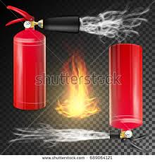 man using fire extinguisher fighting fire stock photo 625194191