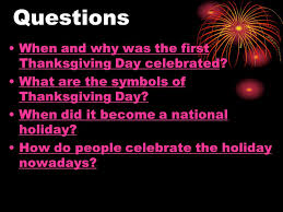 thanksgiving day the fourth thursday in november ppt
