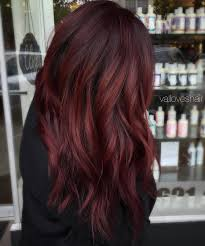 reddish brown hair color burgundy red hair color with a dark base hairstyle haircut today
