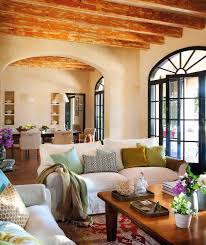 Modern Spanish Homes Lovely Yellow Spanish Home Interior Idea Feat Distressed Wood