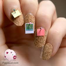 piggieluv cork board nail art video tutorial