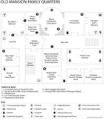 Floor Plan Of White House White House Mansion Family Quarters White House Floor Plans