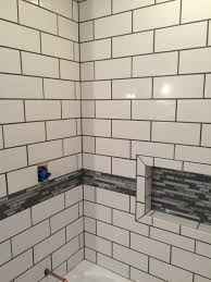 Home Depot Bathroom Ideas Snow White Tile From Home Depot With Pewter Grout Bathroom