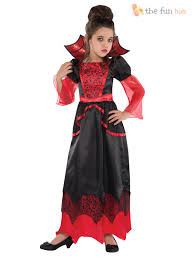 Vampiress Halloween Costumes Deluxe Girls Vampire Queen Costume Long Vampiress Halloween Fancy