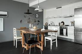 deco mur gris et blanc idee cuisine bois cosy jpg 1454859901