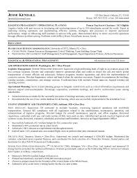 Sample Resume For Supply Chain Executive by Senior Logistic Management Resume Logistics Manager Resume Example