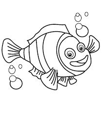 clown fish bubbles coloring pages place color