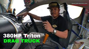 mitsubishi strada modified 380hp mitsubishi triton drag truck modified interview sound