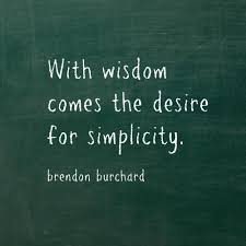 jigsaw quote game with wisdom comes the desire for simplicity motivation