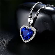 necklace titanic images Titanic the heart of the ocean blue diamond necklace pendant girls JPG