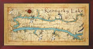 map kentucky lakes rivers field studio beautiful kentucky lake wall map