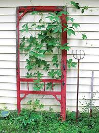 turn a screen door into a trellis old house restoration