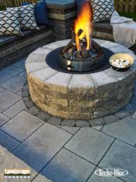 design ideas for outdoor paving stone fireplaces landscape
