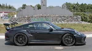 2018 porsche 911 gt3 rs spied flaunting naca ducts