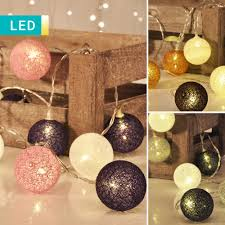 led fairy lights with wool balls