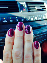 plum gel polish winter fall color love nail color make up