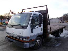 truck mitsubishi fuso 1997 mitsubishi fuso fe single axle flatbed truck for sale by