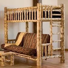twin over full log futon lodge craft