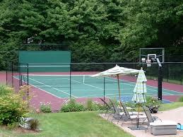 Backyard Tennis Court Cost Triyae Com U003d How To Make Tennis Court In Backyard Various Design